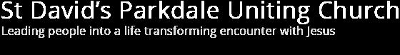 St Davids Parkdale Uniting Church Logo